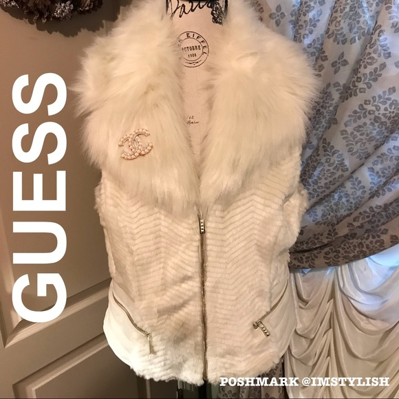 Guess Jackets & Blazers - 🆕 SALE! Guess Faux Fur Sleeveless Gabby Vest